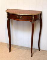 French Mahogany Demi Lune Table (3 of 10)
