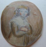 Watercolour Portrait Miniature Georgiana Duke of Devonshire 's Daughter c.1790 (12 of 13)