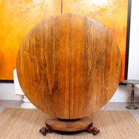 William IV Rosewood Breakfast Table Tilt Top Dining Console (4 of 11)