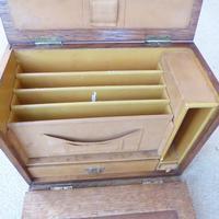Oak Edwardian Style Writing Box (4 of 4)