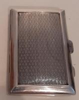Art Deco Silver Cigarette Case, Hallmarked 1927 (2 of 4)