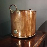 Antique Copper Coal Bucket of Oval Form with Handles (3 of 7)