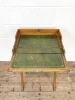 Antique Oak Folding Campaign Desk (5 of 10)