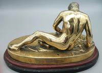 Beautiful Antique Dying Gaul / Gladiator Brass Sculpture (2 of 6)