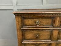Oak Jacobean Style Chest of Drawers (10 of 13)