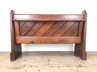Antique Pitch Pine Church Pew with Enamel Number 37 (M-1639) (12 of 12)