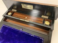 Antique Amboyna Mother of Pearl Inlaid Writing Slope Lap Box (6 of 19)