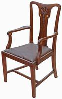 Set of 8 Inlaid Mahogany Dining Chairs Art Nouveau c.1910 (3 of 10)