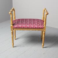 Antique Adams Style Gilded Window Seat (2 of 12)