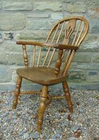 Child's Antique Oak Windsor Chair (2 of 9)