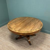 Spectacular Mellow Rosewood and Brass Inlaid Regency Circular Centre Table (8 of 8)