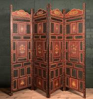 Handpainted Moroccan 4 fold screen (6 of 19)