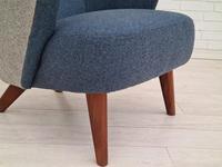 Danish Design 1960s, Restored Armchair, Nevotex Furniture Wool (12 of 14)