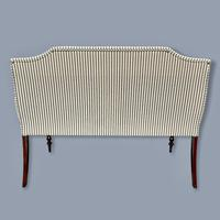 Buttoned Ticking Stripe Sofa & Footstool (2 of 11)