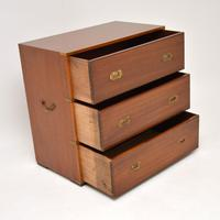 Antique Military Campaign Style Mahogany Chest of Drawers (8 of 10)