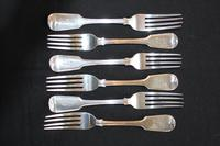 A Harlequin Set of George IV and Later Silver Fiddle Pattern Flatware (7 of 7)