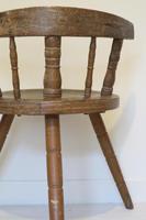 Scandinavian / Swedish 'Folk Art' Blekinge chair, three-legged, curved back & circular seat c.1850 (19 of 31)