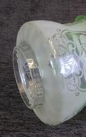 Antique Victorian Green Glass Tulip Oil Lamp Shade Globe (5 of 5)