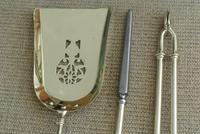 Quality Antique Adam Style Brass Fire Irons Companion Set Tongs Poker Shovel (4 of 9)
