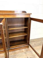 19th Century Glazed Walnut Bookcase (8 of 14)