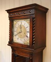Small Oak Westminster Chime Longcase Clock (3 of 10)