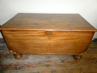 19th Century Mahogany Coffer or Blanket Chest