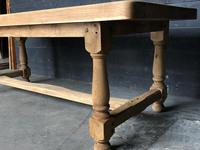 Bleached Oak Wide Farmhouse Dining Table (13 of 15)