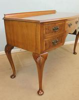Burr Walnut Bow Front Writing Side Table (9 of 10)