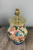 Victorian English Floral Vase Table Lamp, Rewired & Pat Tested (7 of 15)