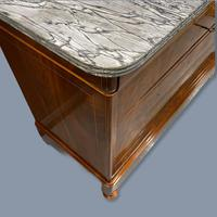 Exceptional French Marble Top Mahogany Inlaid Commode (12 of 12)