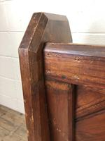 Antique Pitch Pine Church Pew with Enamel Number 35 (8 of 12)
