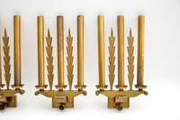Set of 5 Antique Neo-Classical Brass Wall Sconce Lights (5 of 12)