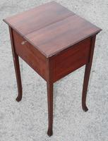 1900s Mahogany Sewing Cabinet Table (3 of 4)