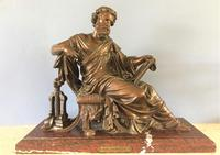 Superb Mid 19th Century Classical Bronze of Archimedes