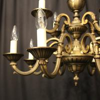 French Gilded Brass 12 Light Tiered Chandelier Oka04098 (2 of 10)