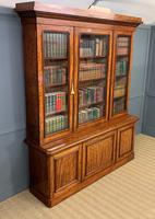 Fine Quality Figured Mahogany Library Bookcase (17 of 17)