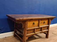Chinese 19th Century Elm Altar Prayer Coffee Table 'Qing Dynasty' (6 of 8)