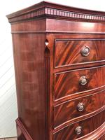 Quality Mahogany Serpentine Chest on Chest (3 of 11)
