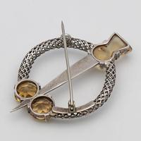 Vintage Scottish Silver & Cairngorm Citrine Brooch (2 of 3)