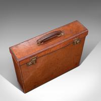 Antique Folio Case, English, Leather, Record Producer's Attache Briefcase, 1920 (7 of 12)