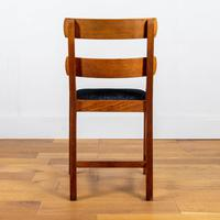 Set of 6 1930s Golden Oak Dining Chairs in the Manner of Heal's (8 of 16)