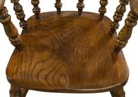 Substantial Ash, Elm & Beech Smokers Bow / Desk Chair (6 of 7)