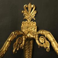 French Pair of Gilded Bronze Twin Arm Antique Wall Lights (3 of 10)