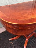 Quality Inlaid Mahogany Fold Over Games Table (12 of 12)