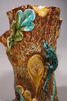 Mid 19th Century Lica Pottery Stick Stand in the Form of a Tree Trunk (3 of 4)