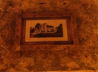 Good Victorian Ladies Sewing Table inlaid with castle ruins (5 of 10)