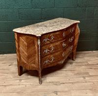 Beautiful French Louis XVI Style Tulip wood marble top commode (5 of 12)