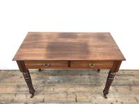 Edwardian Mahogany Two Drawer Side Table (5 of 11)