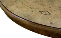 Oval Inlaid Walnut Loo Table on Quadruple Base (8 of 8)