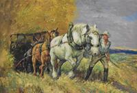 Oil Painting of Working Horses & Farmers (6 of 8)